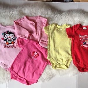 5 pcs Baby Girl Cloths